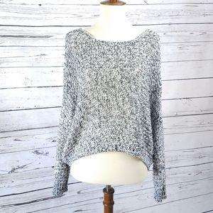 RDI Marled Black White Loose Knit Sweater Sz XL